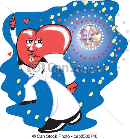 Disco clipart heart Heart with a A with