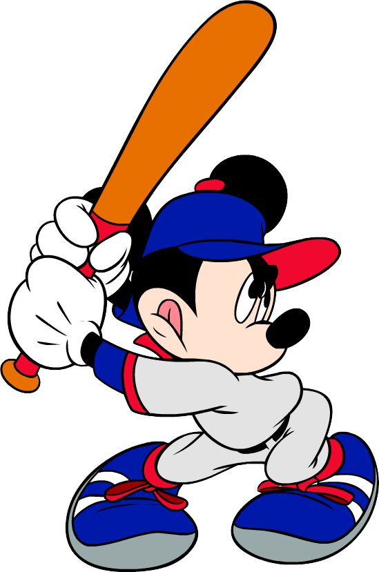 Baseball clipart minnie mouse #2
