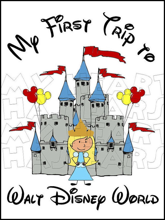 Disneyland clipart florida vacation CHARACTERS Disney World Castle Vacation