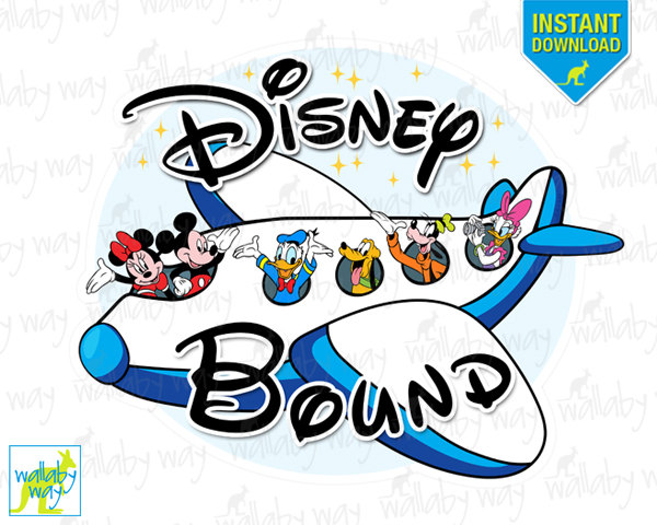 Airplane clipart mickey On Iron Clip Bound Art