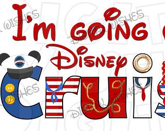 Disneyland clipart cruise Digital Iron word on Disney