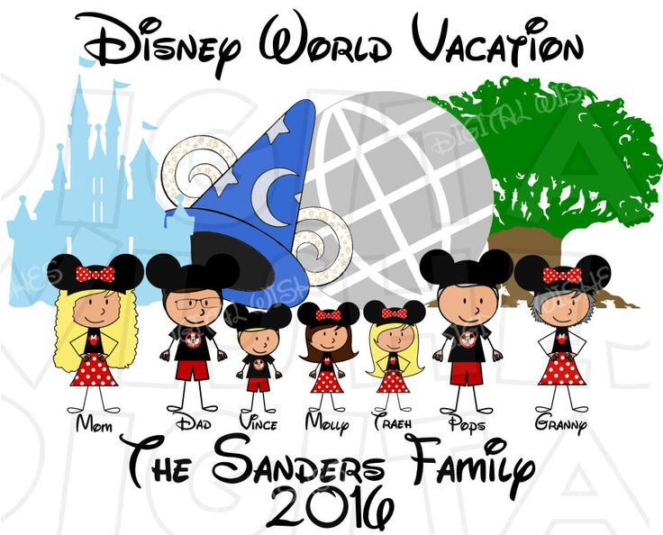 Disneyland clipart florida vacation Parks family images World clip