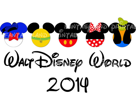 Disneyland clipart florida vacation World Printable Mickey Family DIY