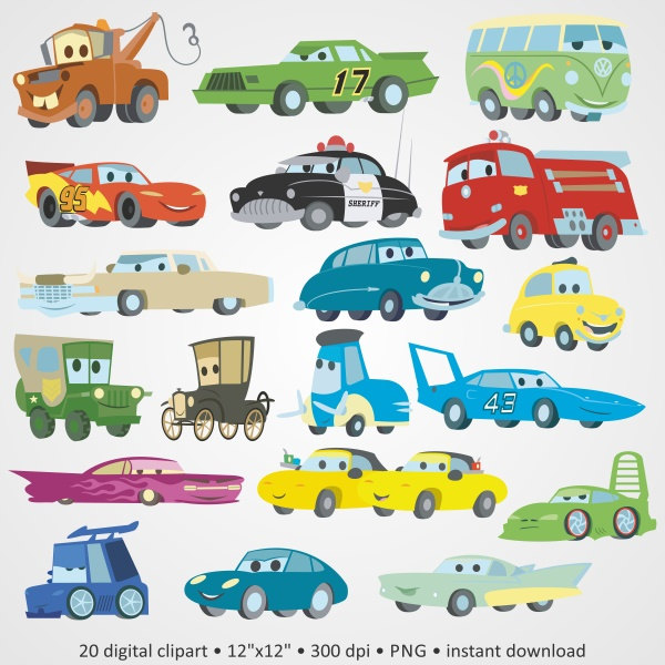 Blue Car clipart disnep Characters