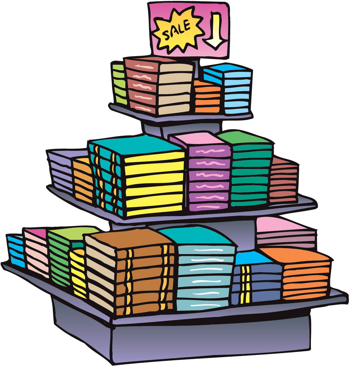Display clipart book stall To choose published art book's