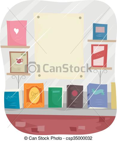 Display clipart bookstore Bookstore Display Display Blank of