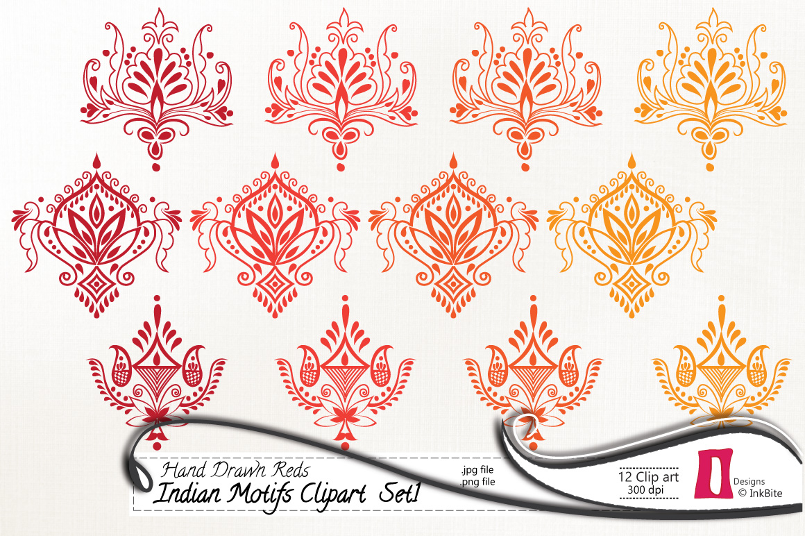 Display clipart indian Drawn Indian InkBite Red Set