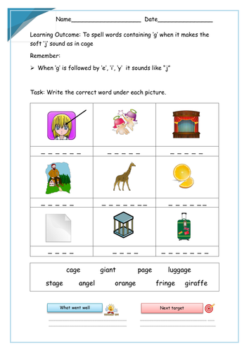 Display clipart soft sound Differentiated the 'g' soft 'g'