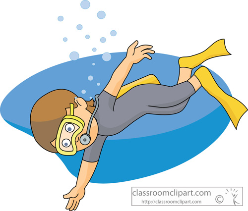 Diving clipart cartoon Art mask tank diver