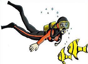 Scuba Diver clipart Diver Free fish Divers and