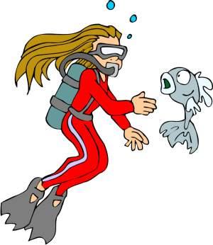 Scuba Diver clipart Last least diver In not