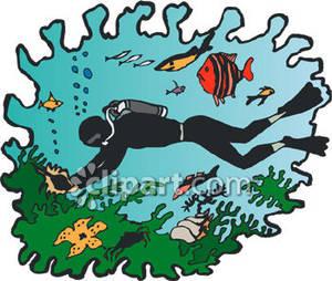 Ocean clipart scuba diver Royalty collection clipart ocean Diver