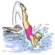 Diving clipart animated  Clipart Free Free and