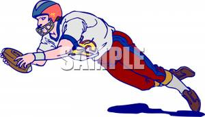 Diving clipart football player Picture Player Football Diving Royalty