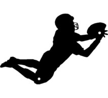 Diving clipart football player Player Clipart Free Clipart Silhouette