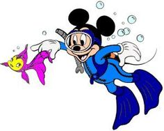 Diving clipart mickey mouse Mouse Scuba Scubas Dive Mickey