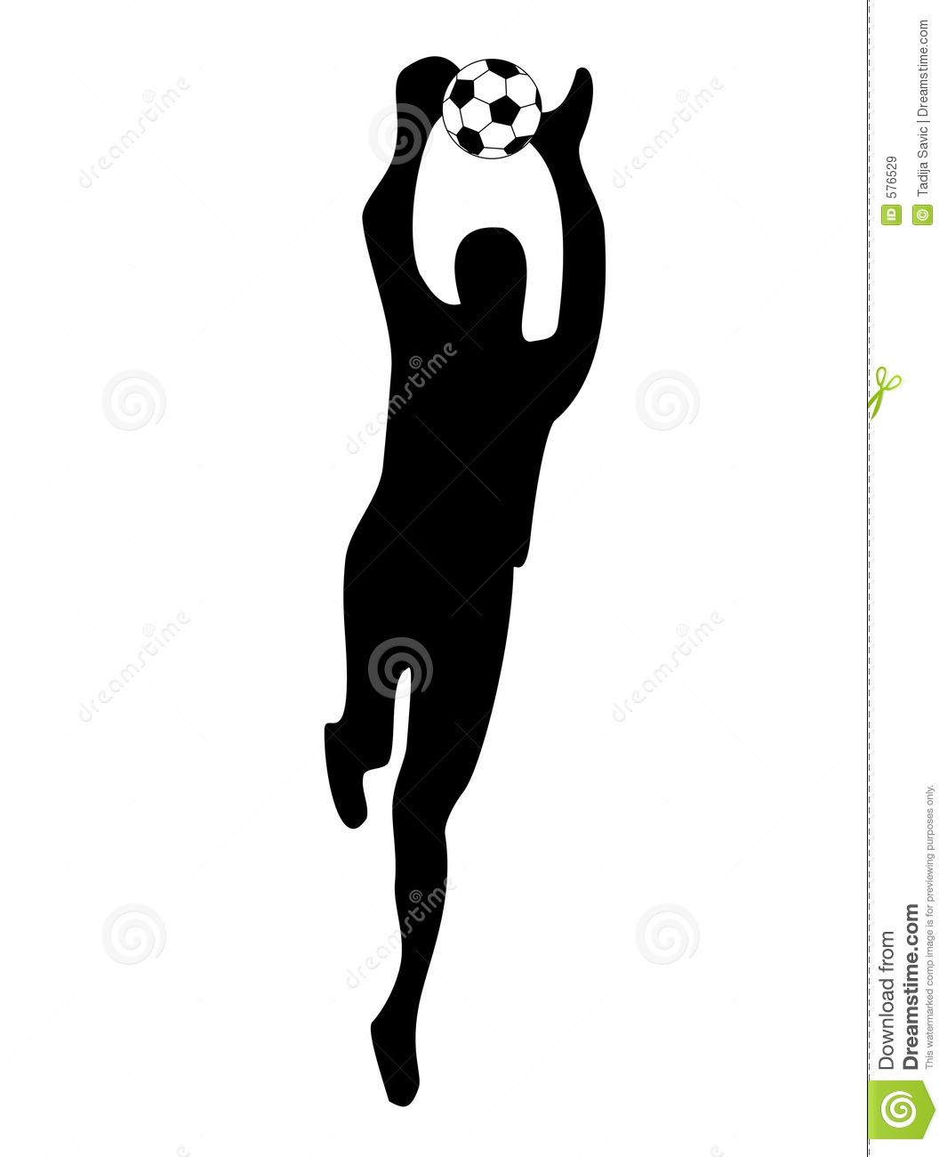Diving clipart soccer goalie Silhouette Dive soccer (53+) goalie