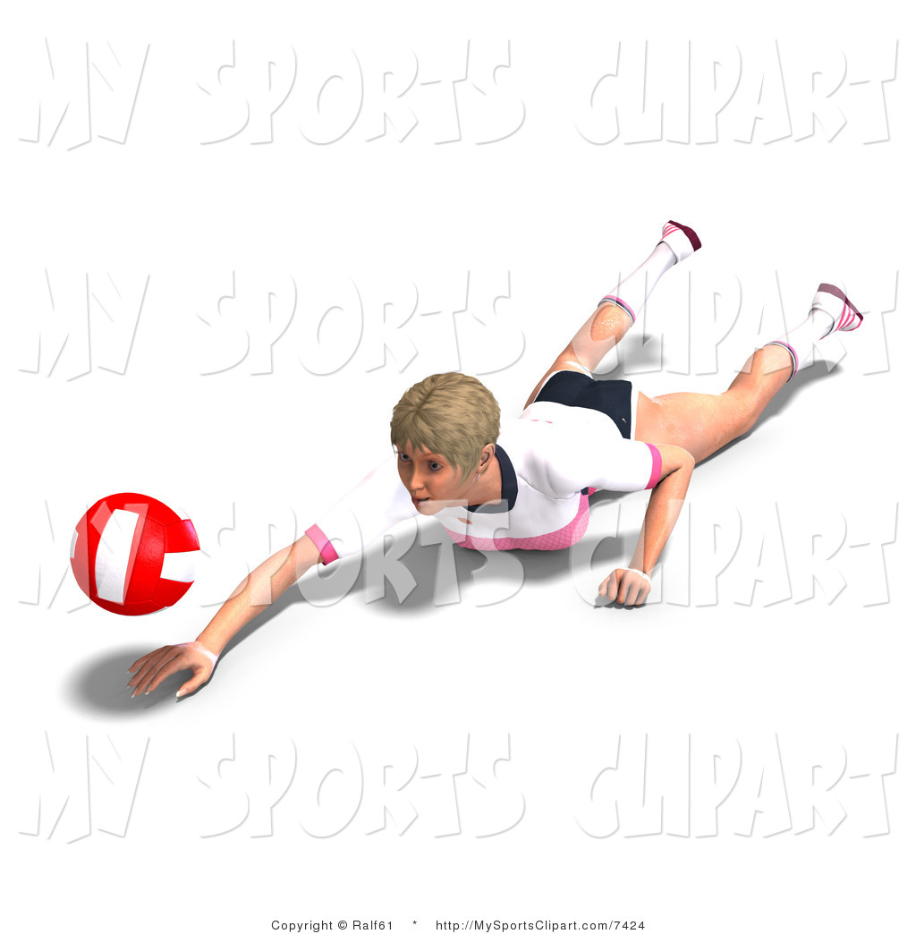 Diving clipart eagle Volleyball of Player Art Ralf61