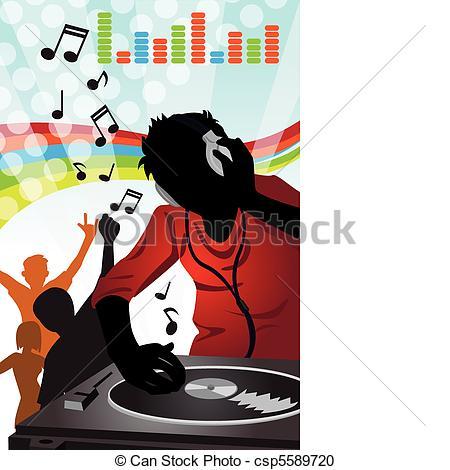 DJ clipart dj music Clipart DJ music vector illustration