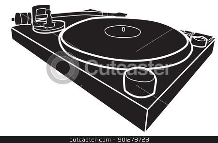 DJ clipart silhouette Deck by vector DJ white