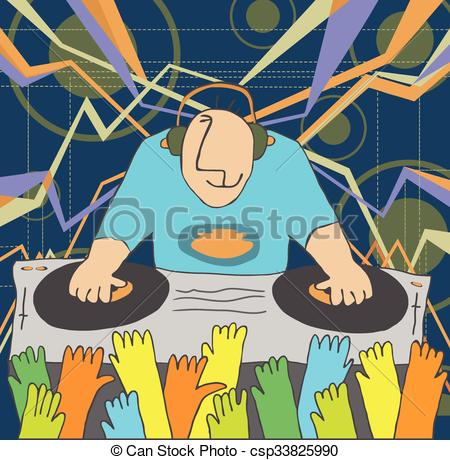 DJ clipart funny Of funny music DJ performing