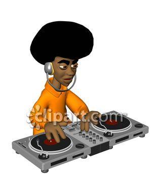 DJ clipart hip hop Mixing
