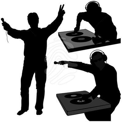 DJ clipart silhouette Images Panda art: Free Clipart