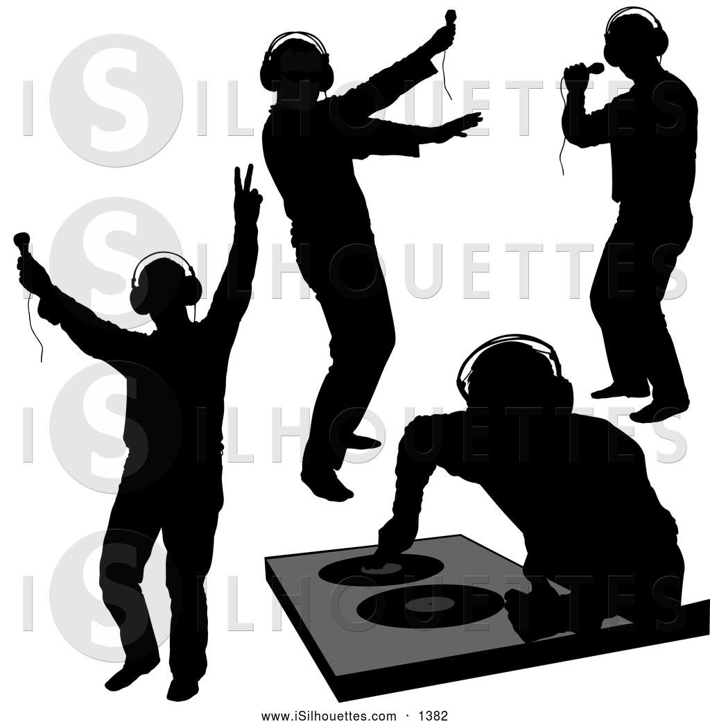 DJ clipart silhouette Dero by Black DJ DJ