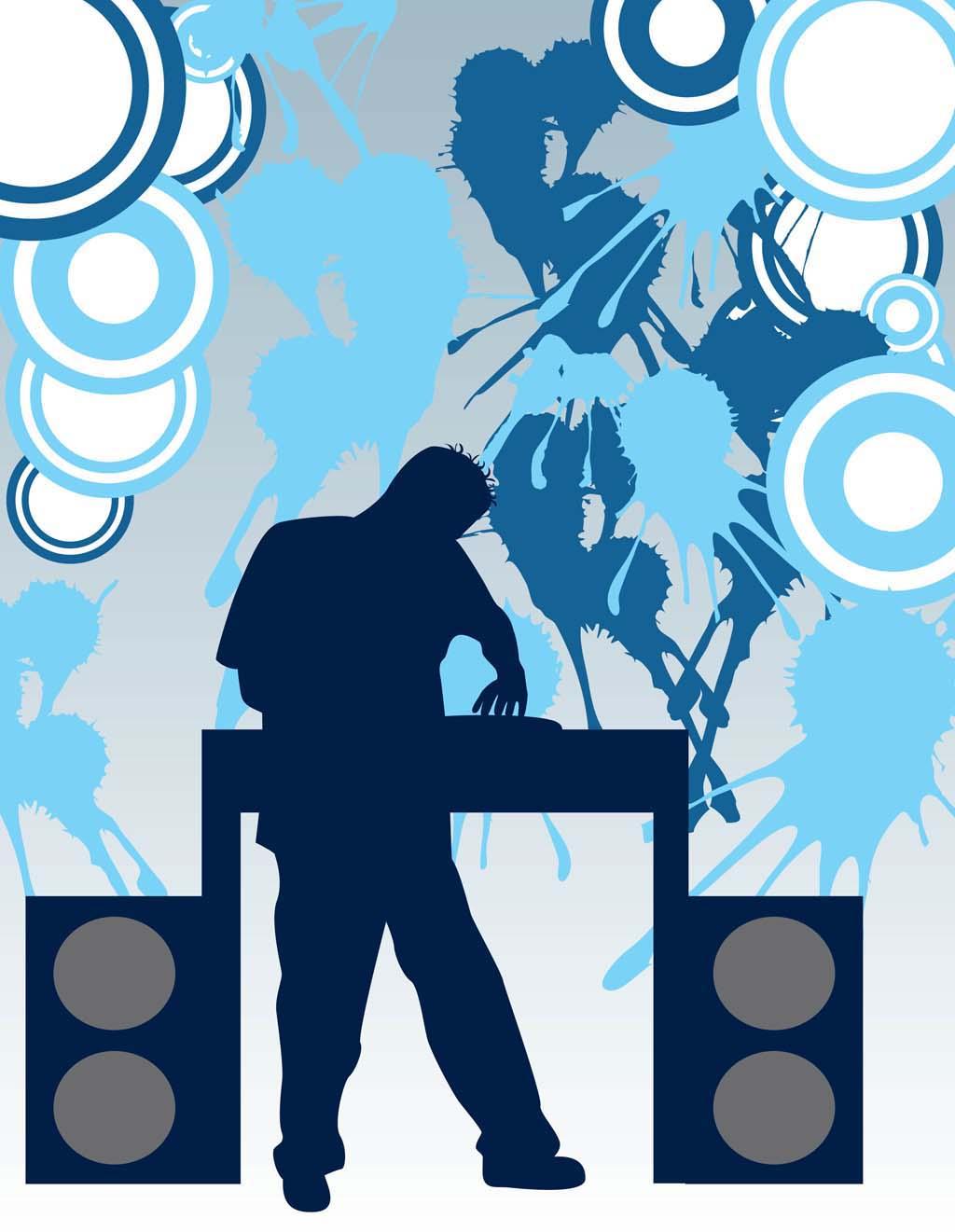 DJ clipart the mix Dj Party Clipart