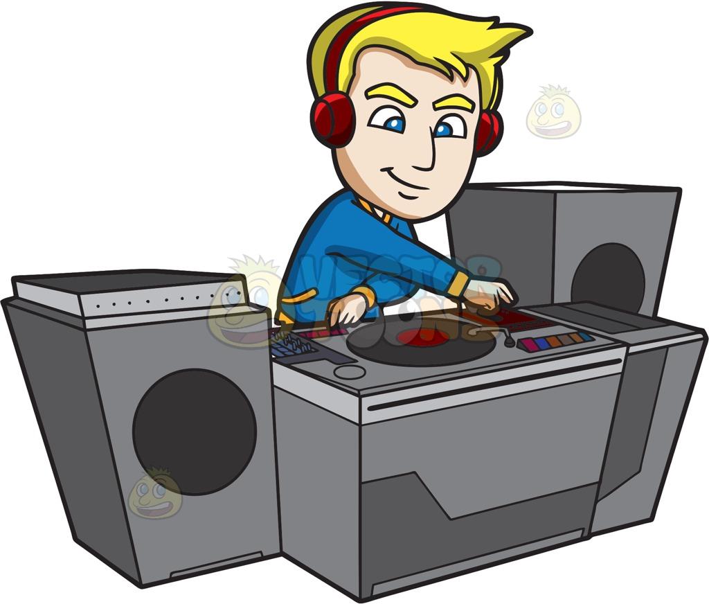 DJ clipart the mix A Dj Creating Super