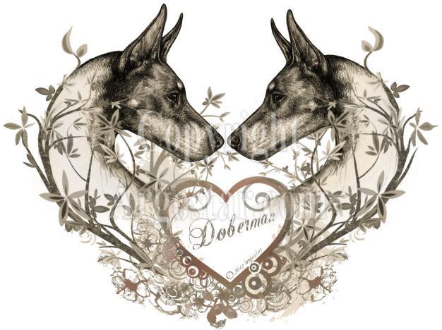 Doberman Pinscher clipart Argostar heart heart Special: shipping