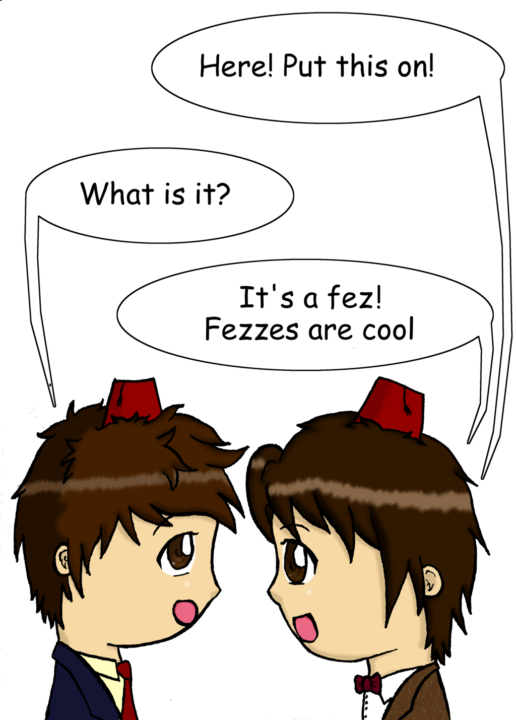 Doctor Who clipart 11 fez Fezzes meets Who by are