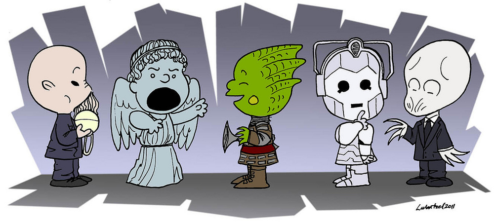 Doctor Who clipart meets Charlie & Brown — &