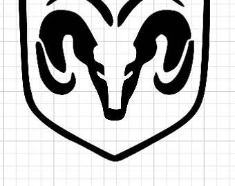 Dodge clipart black and white Dodge Etsy Dodge ram Decal