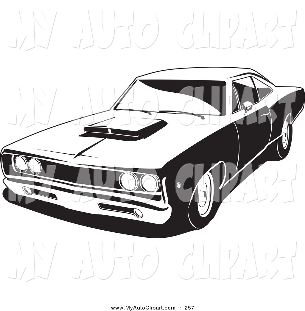 Dodge clipart black and white With Super Bee a and