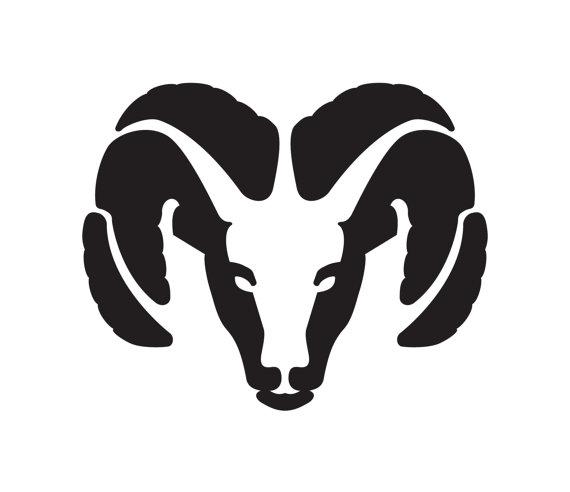 Dodge clipart black and white Head Head Library Logo Ram