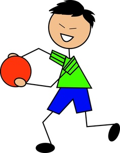 Dodge clipart dodgeball player Happy happy dodge A playing