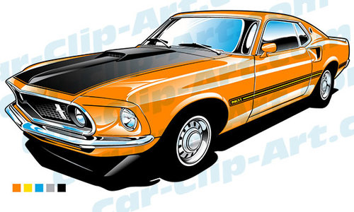 Dodge clipart mustang car Clip Mach 1969  art