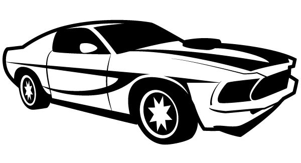 Hot Wheels clipart black and white Racing Illustrator Illustrators Illustrator Race