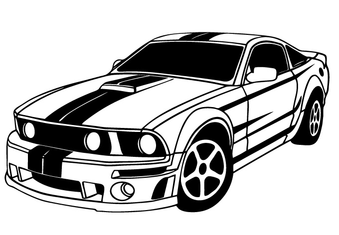 Dodge clipart mustang car Outline Clipart clipart Muscle cars