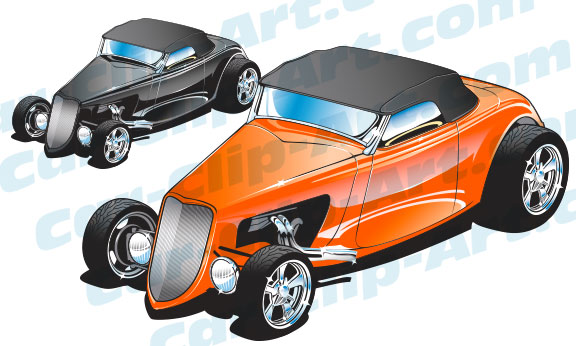 Classic Car clipart modern car Art Hot Vector Art Car