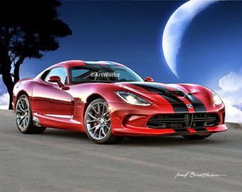 Dodge clipart supercar SRT Car Cobra Car Art