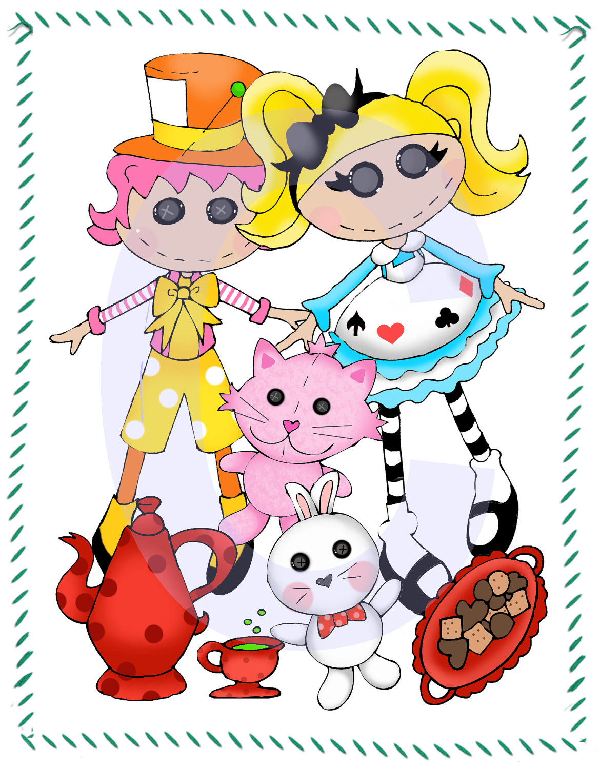 Doll clipart inspired In Mad Alice doll Like