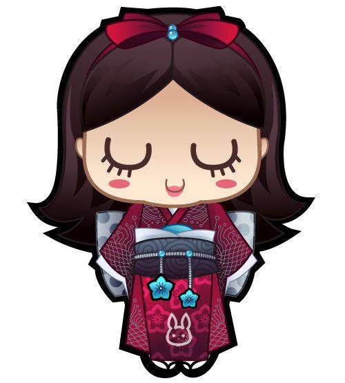Doll clipart inspired Series Jennifer Inspired clipart Kokeshi