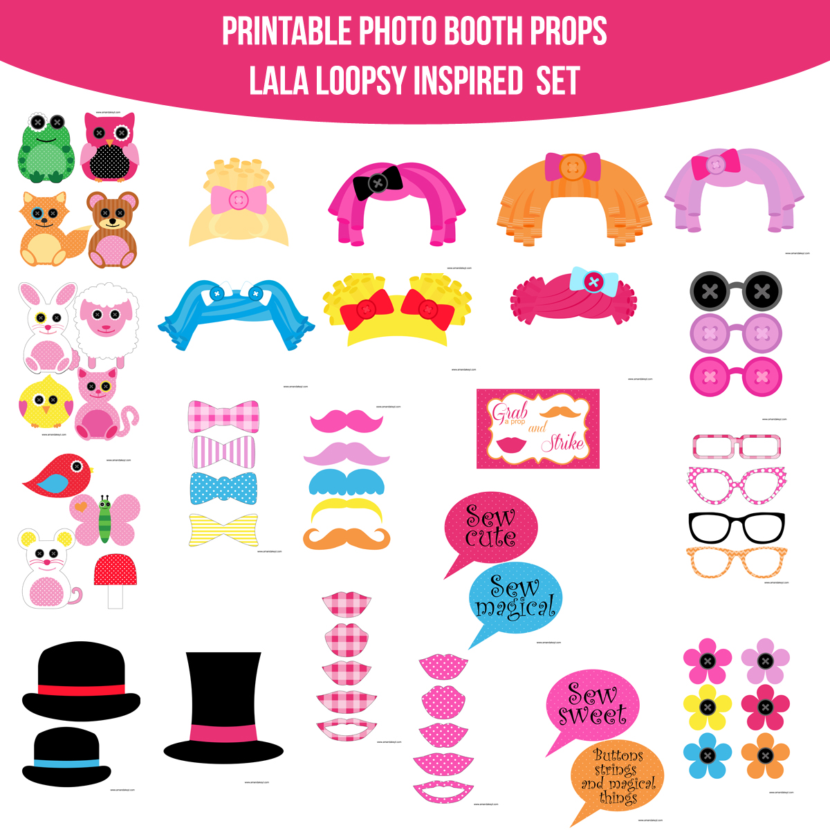 Doll clipart loopsy Instant Instant Set Doll Loopsy