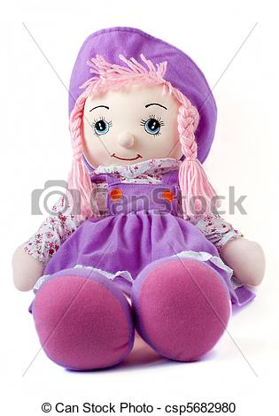 Doll clipart purple On Soft white Photography of