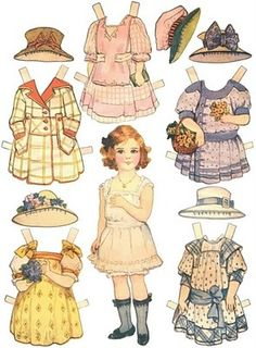Doll clipart shabby Imprime y Paper Bonita Dolls