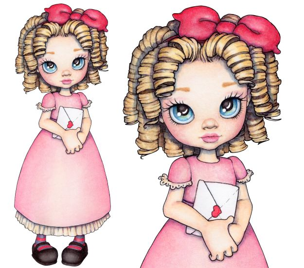 Doll clipart shabby Pinterest images  Яндекс on