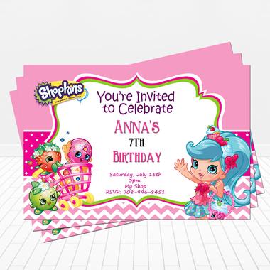 Doll clipart shopkins 1 Invitation Shoppies  Shopkins