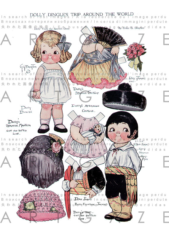 Doll clipart spain Studio Etsy Dolls Dingle Dingle